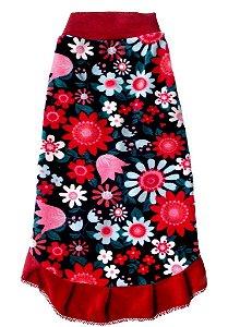 Vestido Pet Estampado Flores