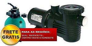 Filtro de piscina Dancor DFR-15-7 c/ bomba de 0,5CV 220/380V Trifásica