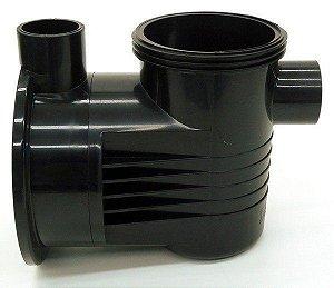 Carcaça com pré-filtro da bomba de piscina Dancor PF-17 de 1/4 a 1,0cv