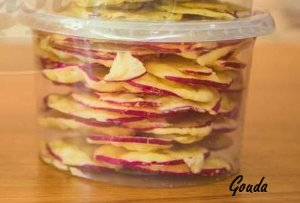 Queijo Chips de Provolone Desidratado Sabor Gouda