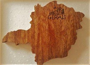 Tábua de Queijo Artesanal Mapa do Estado de Minas Gerais