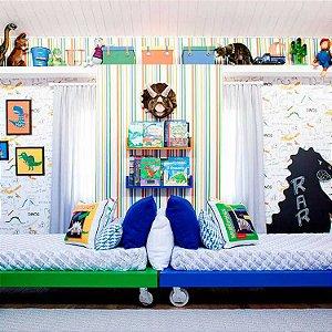 Papel de Parede Quarto Infantil Listras Coloridas