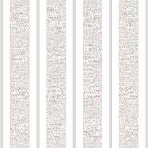 Papel de Parede Quarto Infantil Listras Largas Cinza e Branco