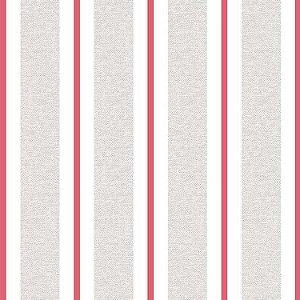 Papel de Parede Quarto Infantil Listras Largas Cinza Vermelho e Branco