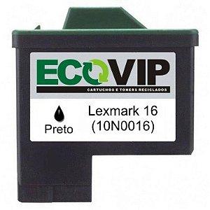 Cartucho Lexmark 16 (10n0016) Compatível Novo - Ecovip