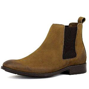Chelsea Boots Masculina Couro Nobuck Legitimo Francalce Escrete