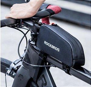 7. Bolsa Bike Quadro de Bicicleta Rockbros Challenge Prova d´Água Refletiva
