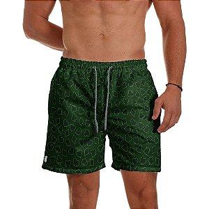 Short de Praia Masculino Estampado Naipe Cartas verde Use Thuco
