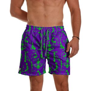 Short Praia Use Thuco Esqueletos Roxo