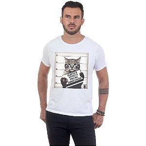 Camiseta Masculina Estampada Vingaça Gato Use Thuco