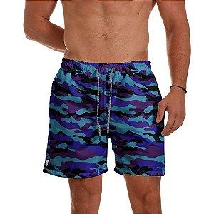 Short Praia Use Thuco Camuflagem Azul