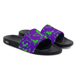 Chinelo Slide Use Tchuco Esqueletos Roxo