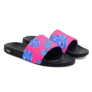 Chinelo Slide Use Thuco Floral Rosa