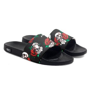 Chinelo Slide Use Thuco Caveira Rosas