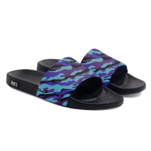 Chinelo Slide Use Thuco Azul E Roxo