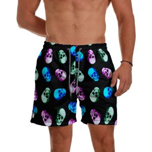 Short Praia Use Thuco Game Skull