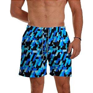 Short Praia Use Thuco Mosaico Azul