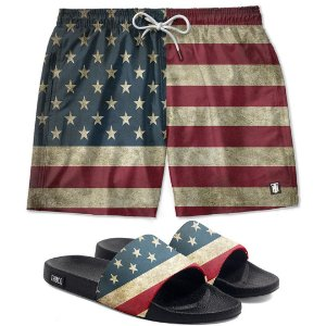 Kit Shorts E Chinelo Slide Usa Use Thuco