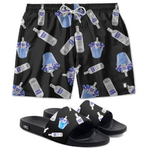 Kit Short E Chinelo Slide Vodkas Absolut
