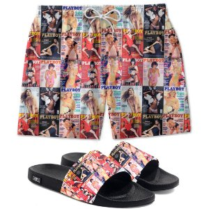 Kit Shorts E Chinelo Slide Playthuco Use Thuco