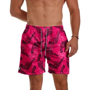 Short Praia Use Thuco Love and Guns Pink