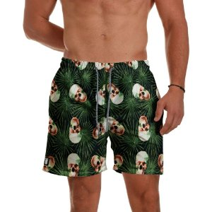 Short Praia Use Thuco Florest Skull