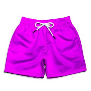 Short Praia Infantil UseThuco Power Pink
