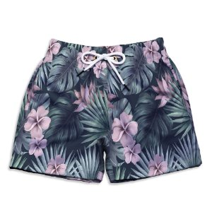 Short Praia Infantil UseThuco Tropical Flowers