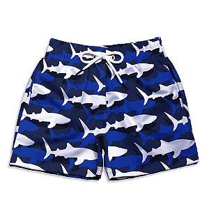 Short Praia Infantil UseThuco Sharks