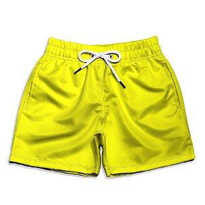 Short Praia Infantil UseThuco Power Yellow