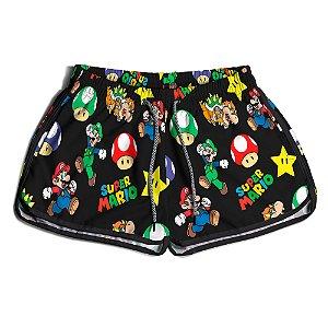 Short Praia Feminino UseThuco Super Mario