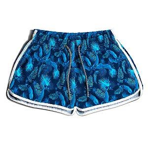 Short Praia Feminino UseThuco Floral Azul