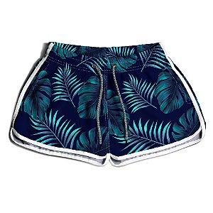 Short Praia Feminino UseThuco Estampado Floral Azul