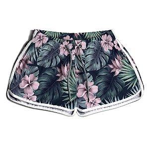 Short Praia Feminino UseThuco Tropical Flowers
