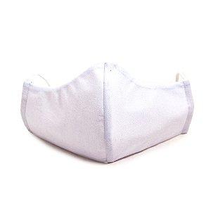 Mascara Proteção Em Tecido Lavável Unissex Branca