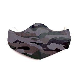 Mascara Proteção Em Tecido Lavável Unissex Camuflado