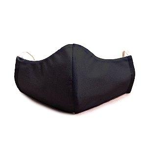 Mascara Proteção Em Tecido Lavável Unissex Preto