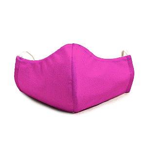 Mascara Proteção Em Tecido Lavável Unissex Rosa