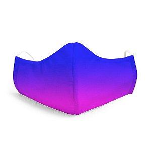 Mascara  Unissex Em Tecido Lavável Degrade Azul Use Thuco