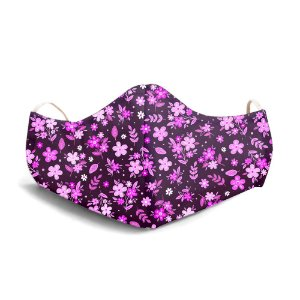 Mascara Proteção Em Tecido Lavável Unissex FLoral Mini Rosas Use Thuco