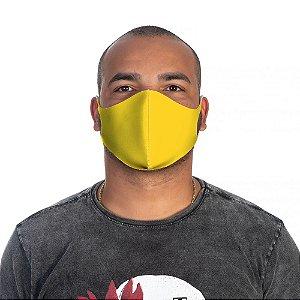 Mascara Proteção Masculina Em Tecido Lavável Neoprene Cor Amarela Use Thuco