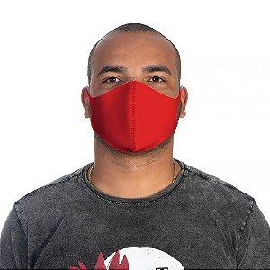 Mascara Proteção Masculina Em Tecido Lavável Neoprene Cor Vermelha Use Thuco