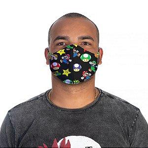 Mascara Proteção Masculina Em Tecido Lavável Neoprene Mario Bros Use Thuco