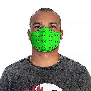 Mascara Proteção Masculina Em Tecido Lavável Neoprene Aliens Green Use Thuco