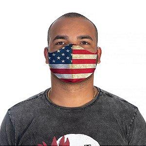 Mascara Proteção Masculina Em Tecido Lavável Neoprene Bandeira EUA Use Thuco