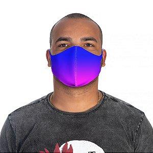 Mascara Proteção Masculina Em Tecido Lavável Neoprene Degrade Azul Use Thuco