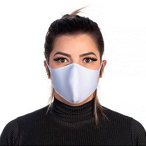 Mascara Proteção Feminina Em Tecido Lavável Neoprene Cor Branca Use Thuco