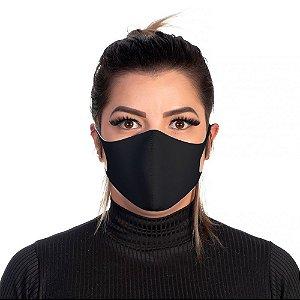 Mascara Proteção Feminina Em Tecido Lavável Neoprene Cor Preto Use Thuco