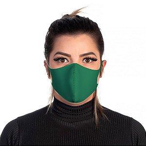 Mascara Proteção Feminina Em Tecido Lavável Neoprene Cor Verde Use Thuco