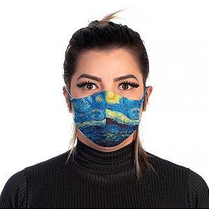 Mascara Proteção Feminina Em Tecido Lavável Neoprene Cor Van Gogh Use Thuco